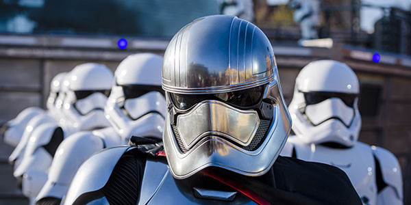 Witness the Power of the Dark side in an Intergalactic Military March.