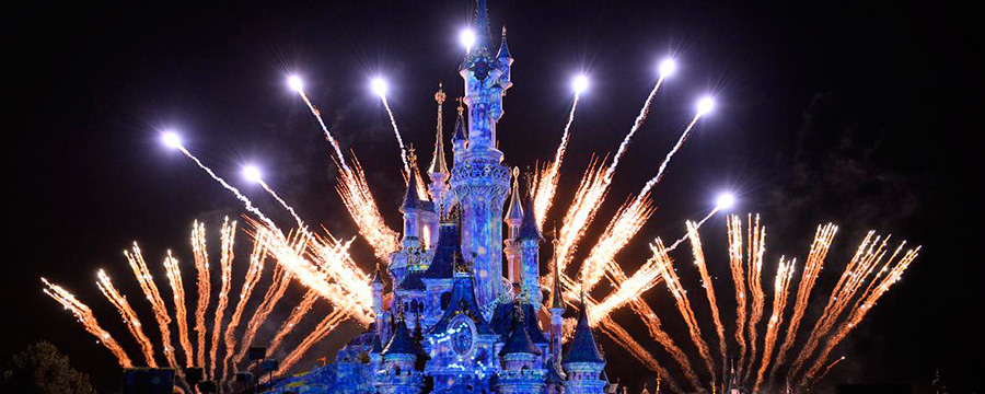 See in the New Year with mesmerising fireworks above Sleeping Beauty Castle.