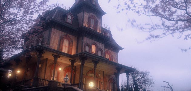 Phantom Manor broods in the twilight mist.