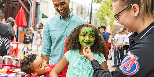 Get your face painted and become your favourite Marvel Super Hero