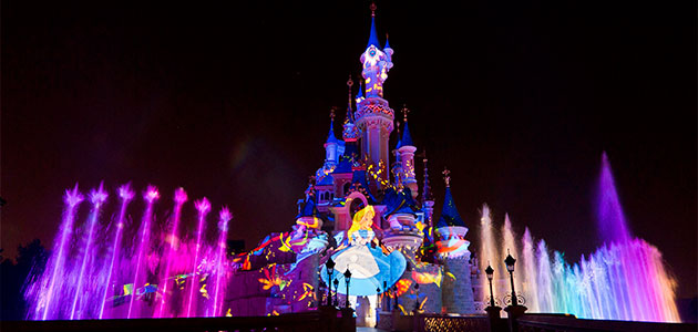 The nighttime spectacular Disney Illuminations