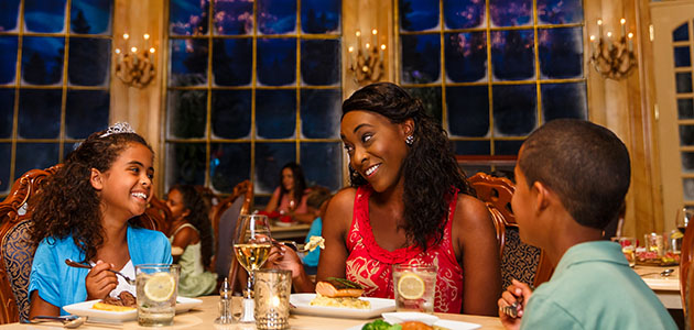 Dine in the Beast's enchanted castle at Be Our Guest