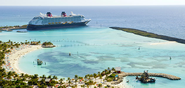 Take advantage of the adult's only beach on Disney's private island, Castaway Cay