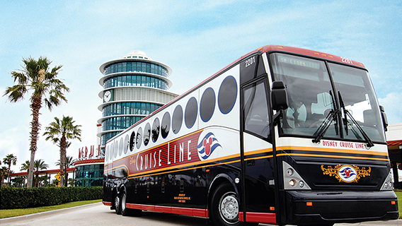 The Disney Cruise Line transportation will transfer you to the airport