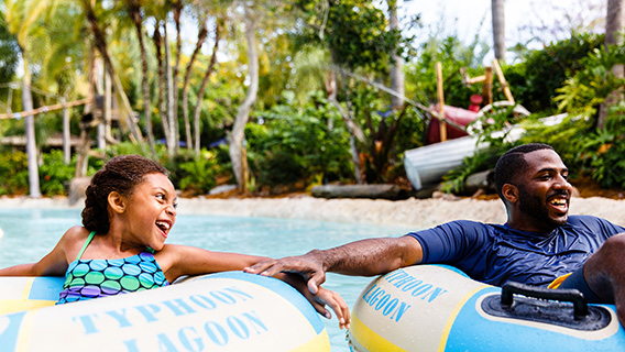 Family at Disney's Typhoon Lagoon Water Park