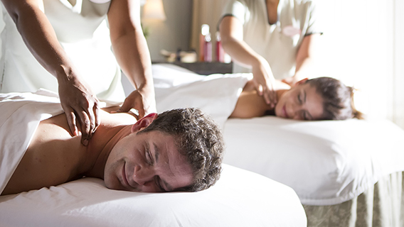 Treat yourself to a massage at Senses Spa & Salon