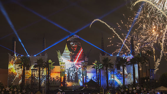 The night-time spectacular, Star Wars: A Galactic Spectacular