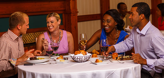 Couples enjoying dining at the Yachtsman Steakhouse