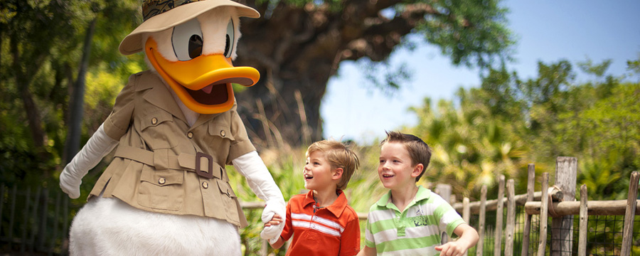 Donald and guests at Disney's Animal Kingdom