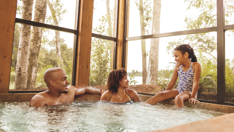 Family at Disney's Wilderness Lodge