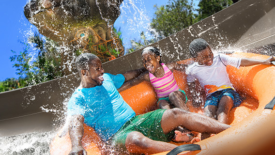 The latest attraction at Disney's Typhoon Lagoon; Miss Adventure Falls