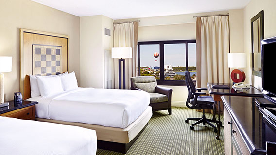 Spacious rooms at the Hilton Orlando Lake Buena Vista
