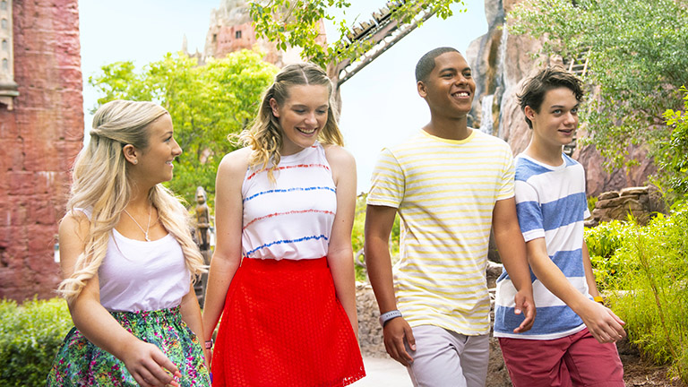 Teens in Disney's Animal Kingdom Theme Park
