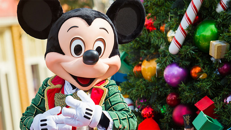 Mickey Mouse at Mickey's Very Merry Christmas Party in Magic Kingdom