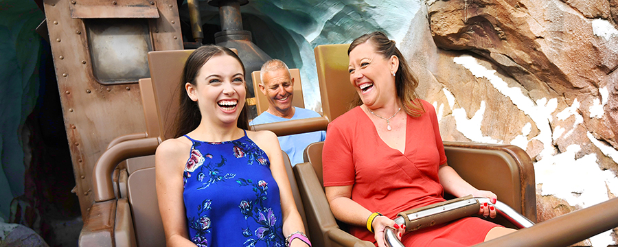 Mother and daughter on Expedition Everest in Animal Kingdom Park