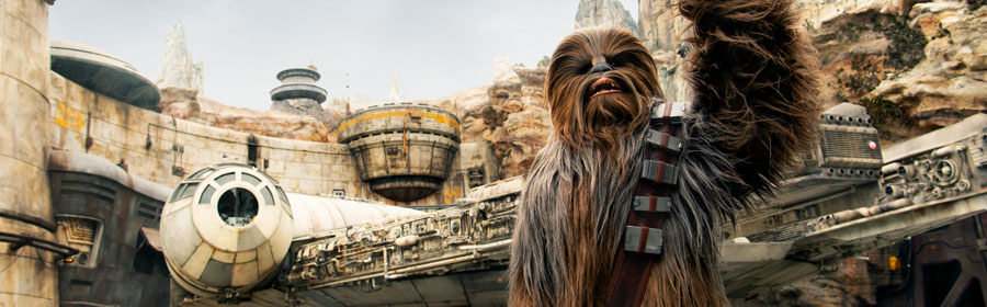 Chewbacca at Star Wars: Galaxy's Edge
